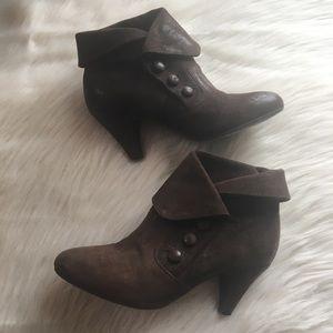 Miz Mooz tribeca boots, brown suede heeled boots 9